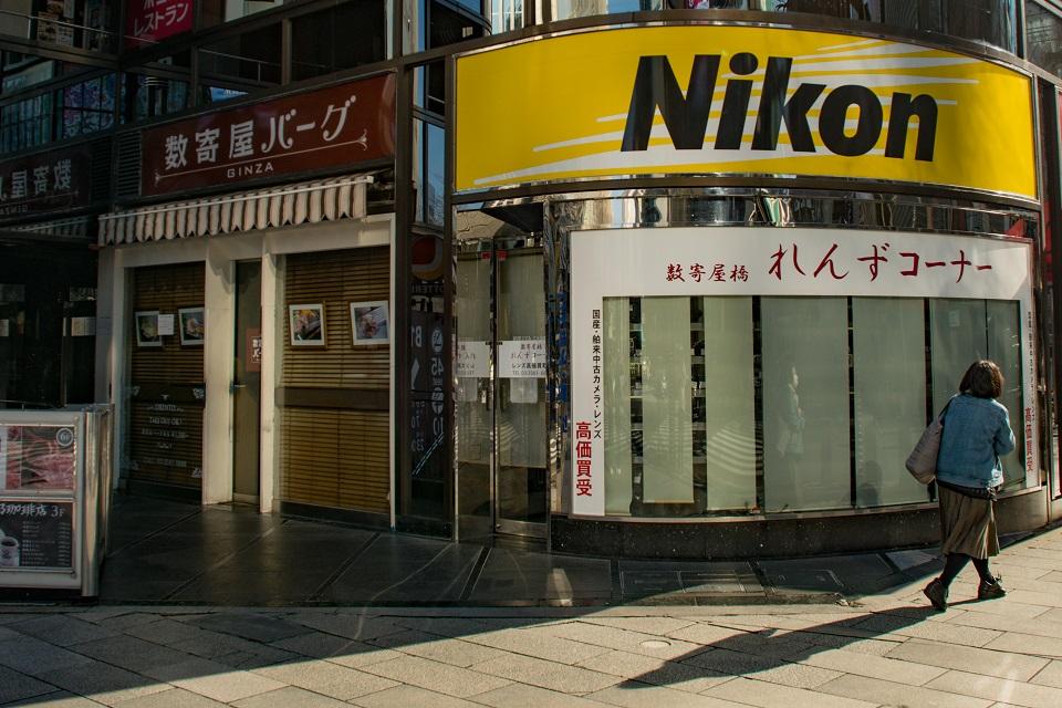 Ginza Used Camera Nikon Lens Corner Storefront - Used camera store in Ginza, Tokyo - EYExplore