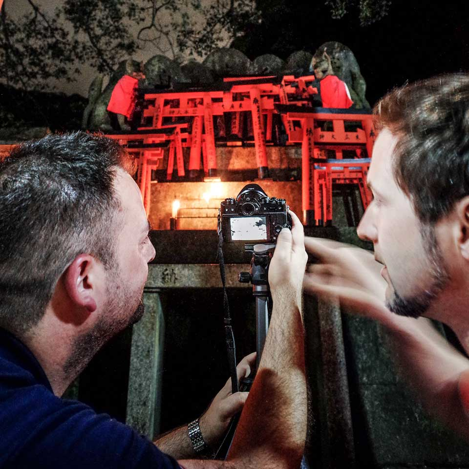 Photo workshop at Fushimi-Inari shrine in Kyoto