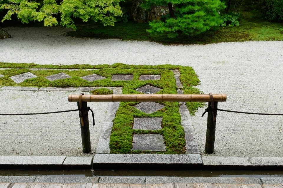 The dry garden at Tenju-an Temple. ISO 400, f/8, 1/140 sec, 42mm (full frame equivalent)