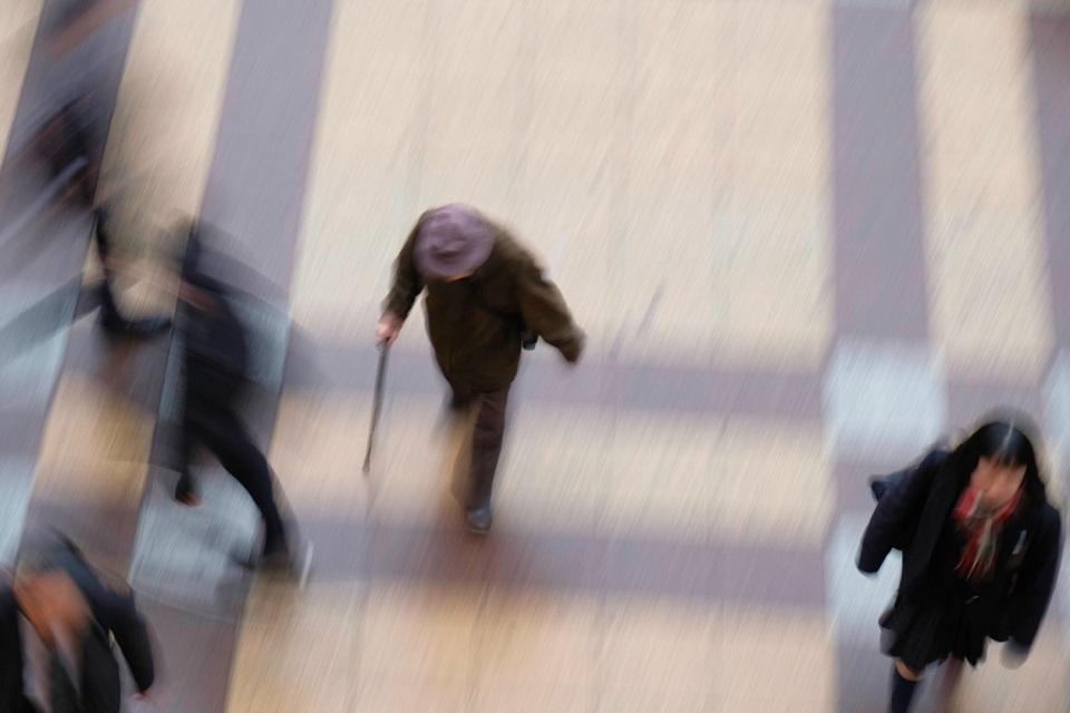 Osaka Rebooted - Umeda Blur Old Man - EYExplore