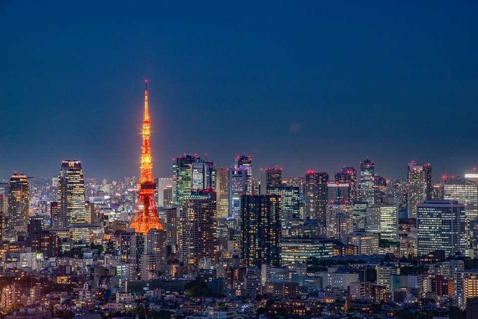 3. Free Observation Decks in Tokyo Japan Tokyo Tower Yebisu Garden Place Tower