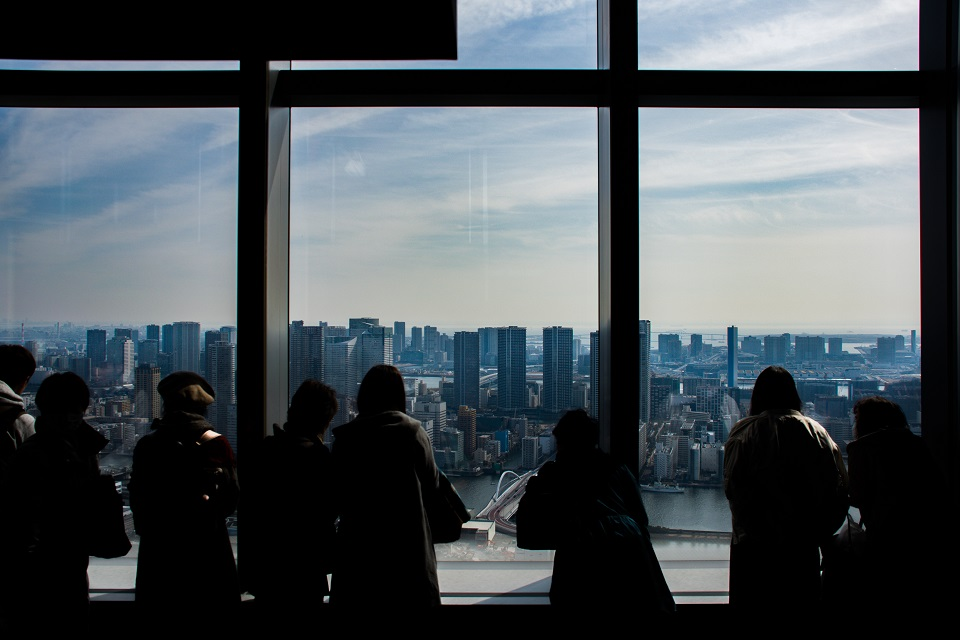 6. Free Observation Decks in Tokyo Japan Caretta Shiodome