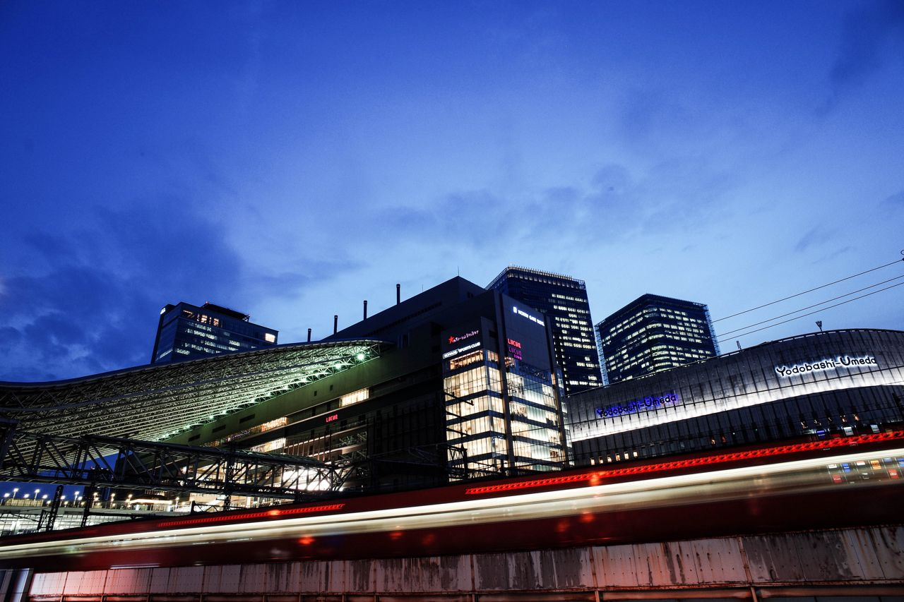 Osaka station night photography