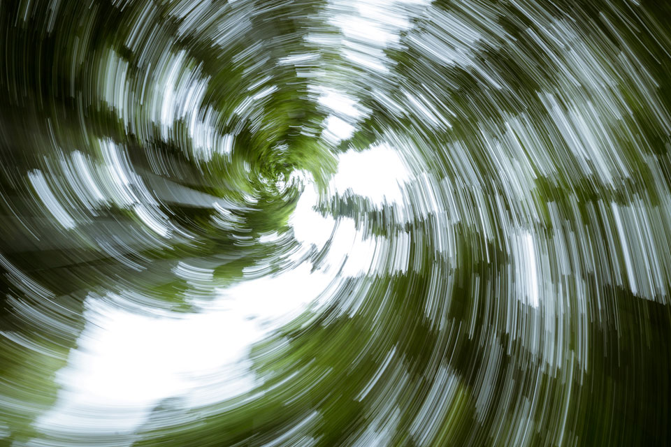 Zoom blur... with a twist.