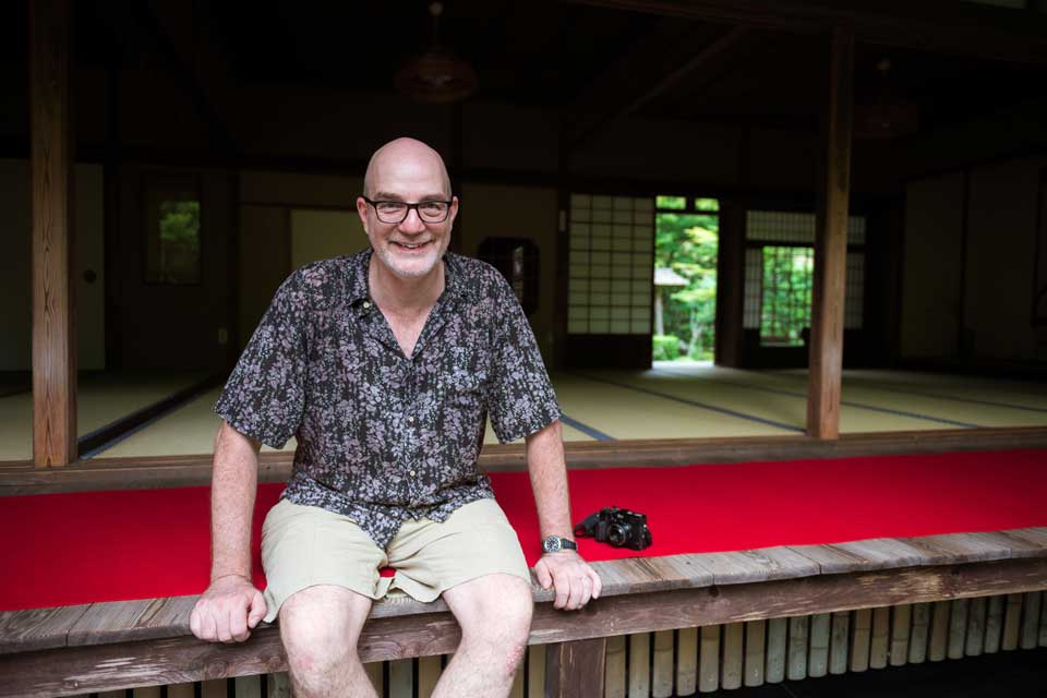 Paul at Enkoji Zen temple.