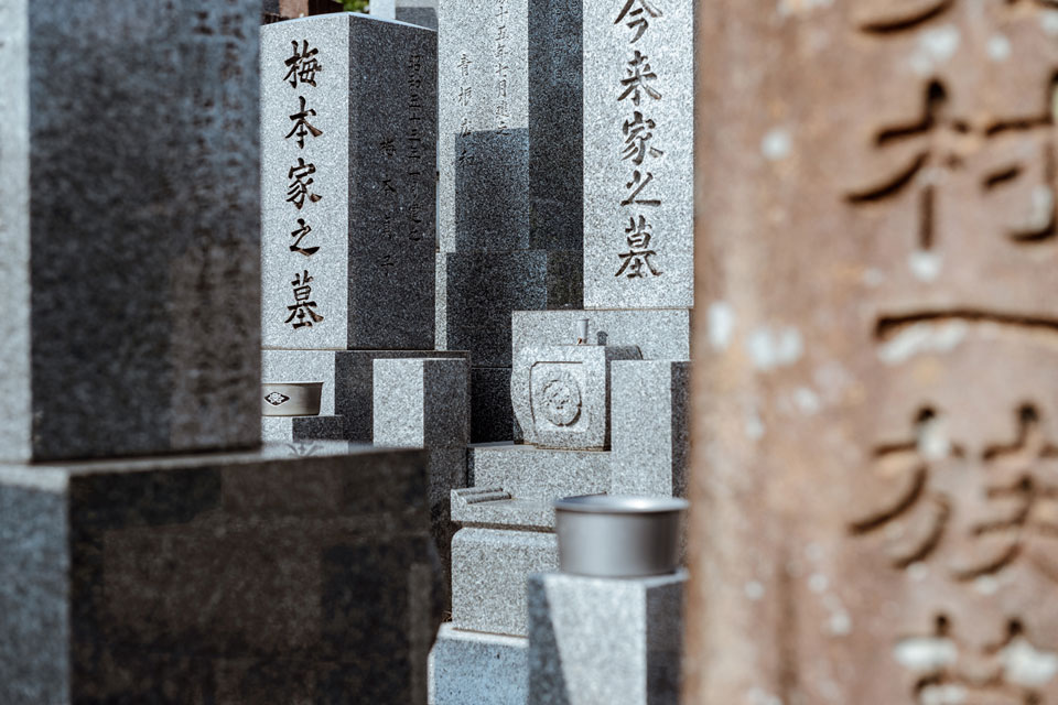 Using a long lens, we can create a mosaic of forms, shapes, and textures amidst the gravestones in Toribeno Cemetery. Shot at 70mm on a full frame camera.
