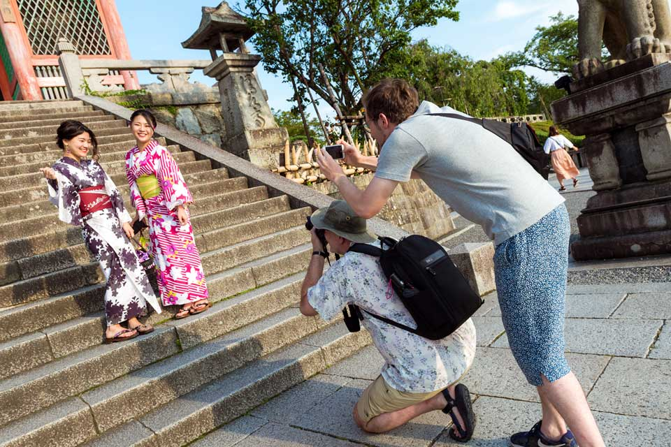 The boys hard at work.