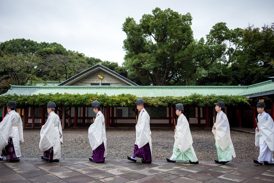 Priests at Hie Shrine