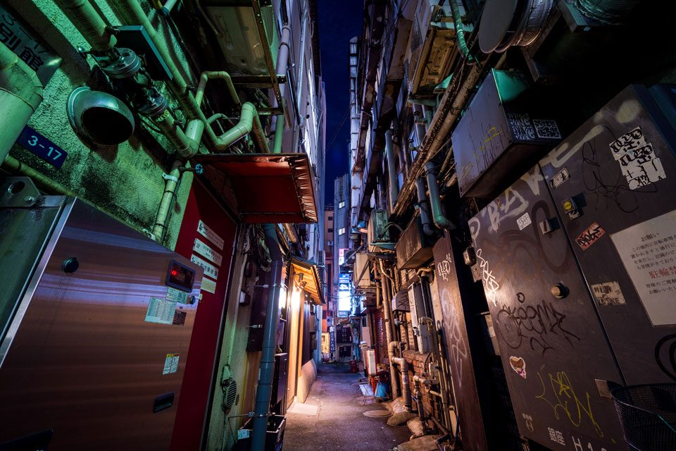 A cyberpunk alley straight out of Blade Runner in Tokyo - EYExplore