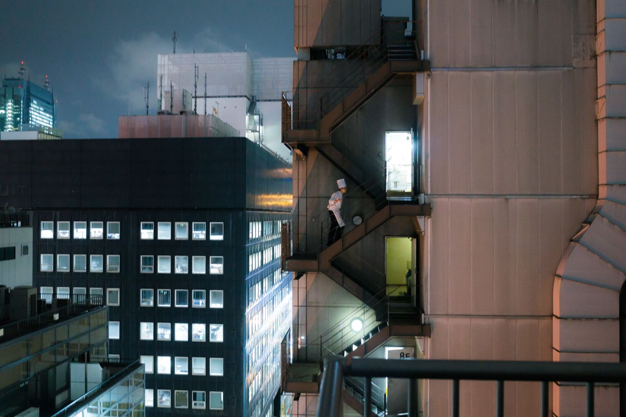 A kitchen chef on the roofs of Tokyo