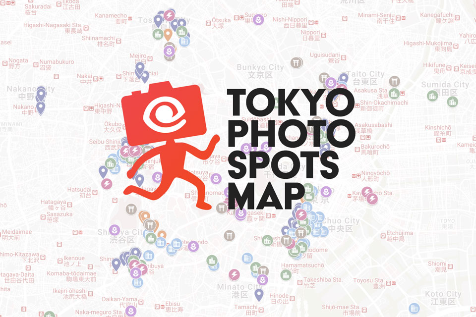 EYExplore Tokyo Photo Spots Map